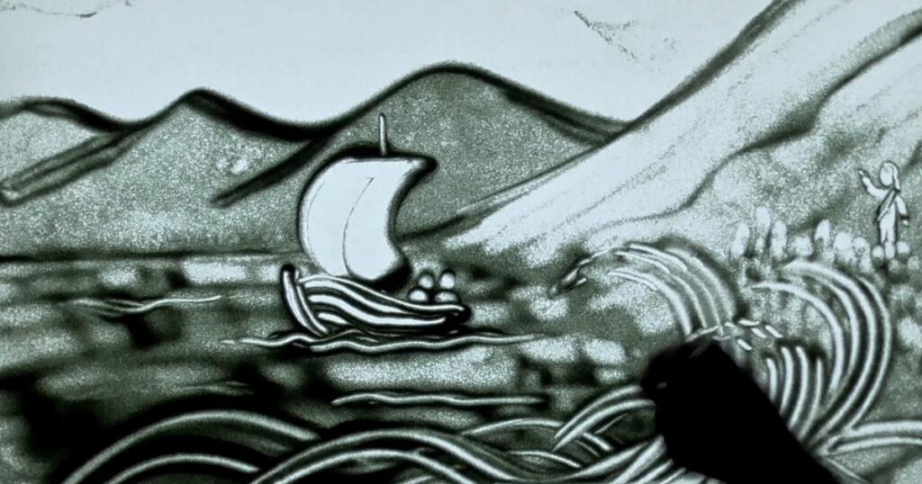 SandyTales - Jezus wandelt over het water